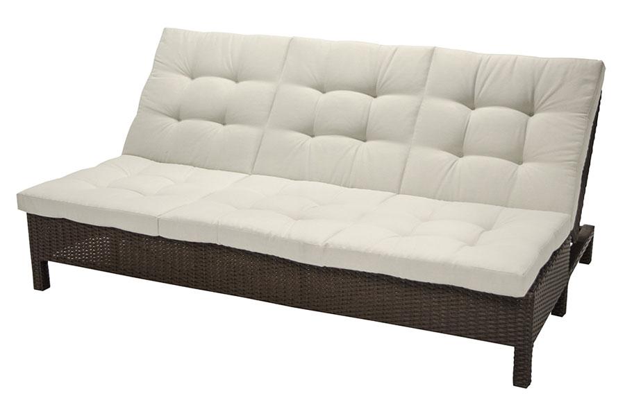 Fidji Sofa Chaise Lounge/Daybed – Creme
