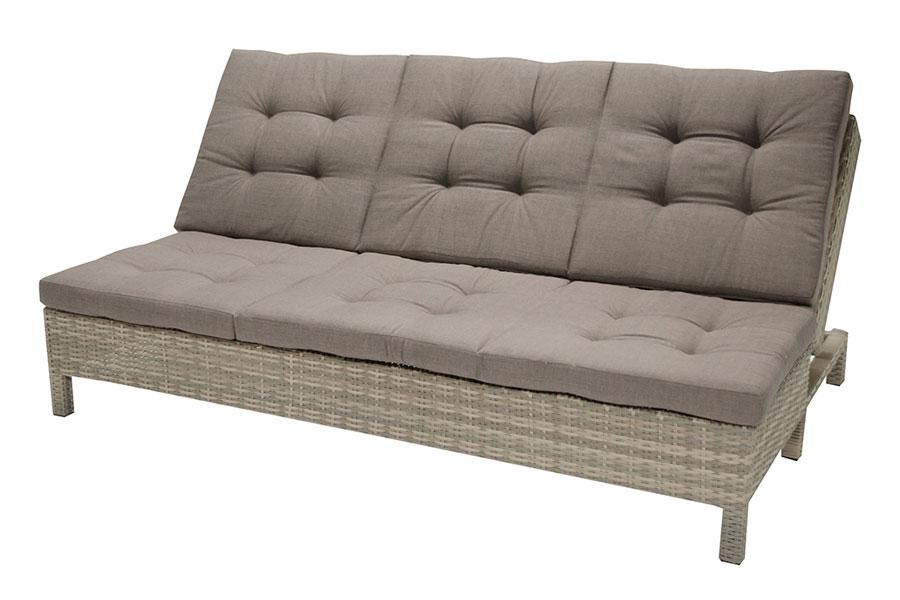 Fidji Sofa Chaise Lounge/Daybed – Grey