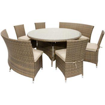 St. Thomas round dining wicker set