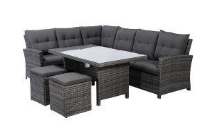 Valencia 5 Pc Dining Sectional