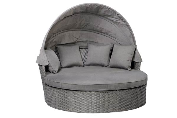 Moon Bed with Canopy Grey