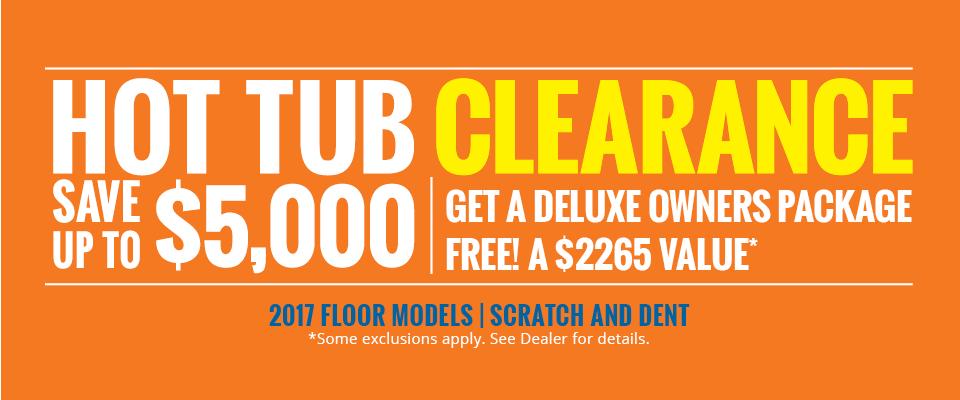 2017 Hot Tub Clearance Sale