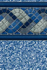 Raleigh With White Beach Pebble Pool Vinyl Liner Boldt
