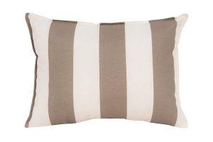 Beige White Stripe Cushion
