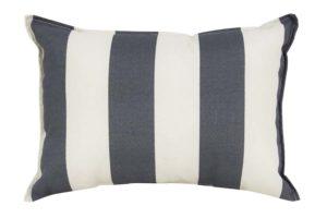 Dark Grey & White Stripe