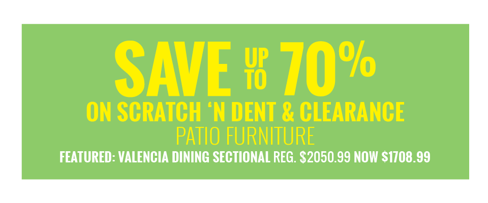 Patio Clearance - Great Savings on Outdoor Furniture