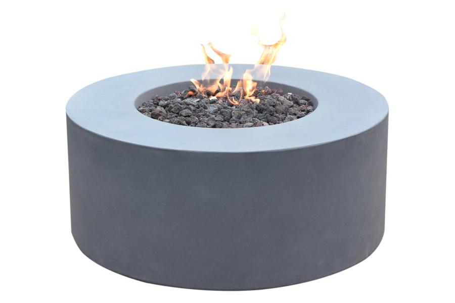 venice round cast concrete fire pit