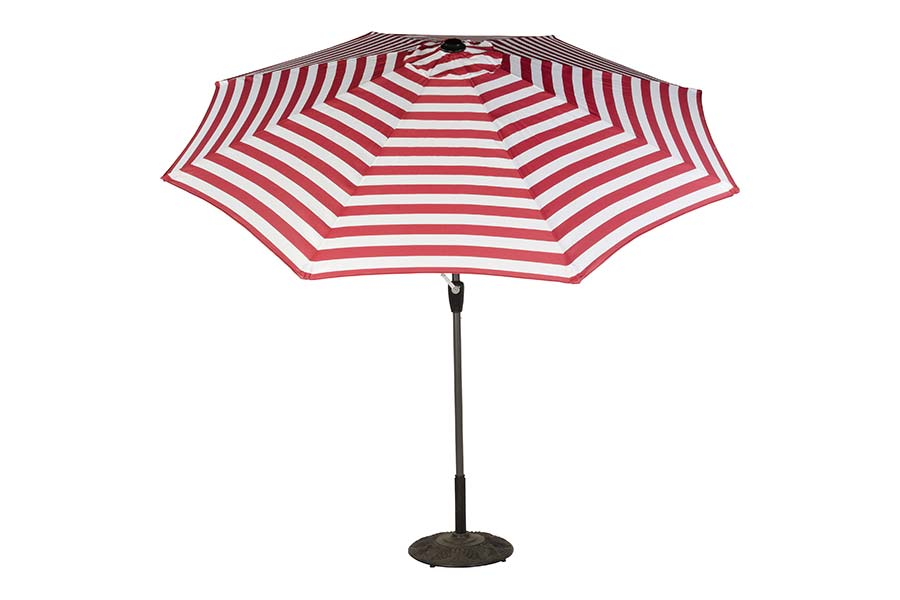 9' Stripe Market Polyester Umbrella