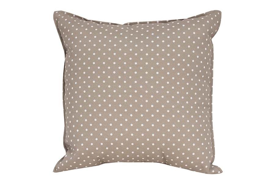 Rectangle Beige Dots Pillow
