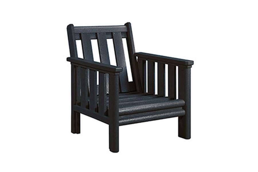 stratford lounge chair black