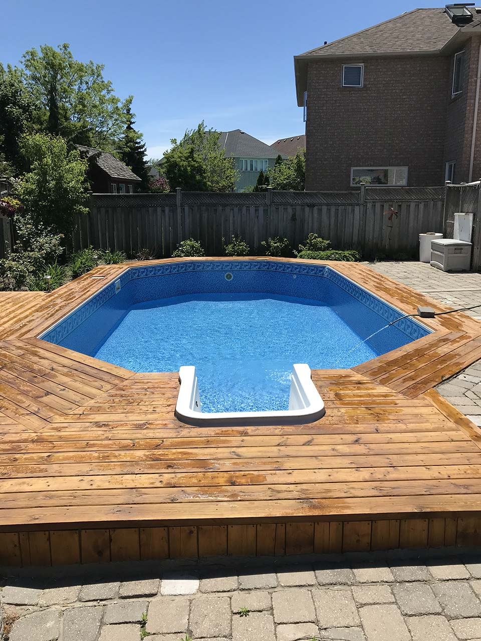 Summer River with River Tile Inground/Onground liner