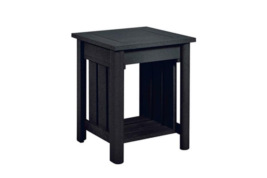 stratford end table black
