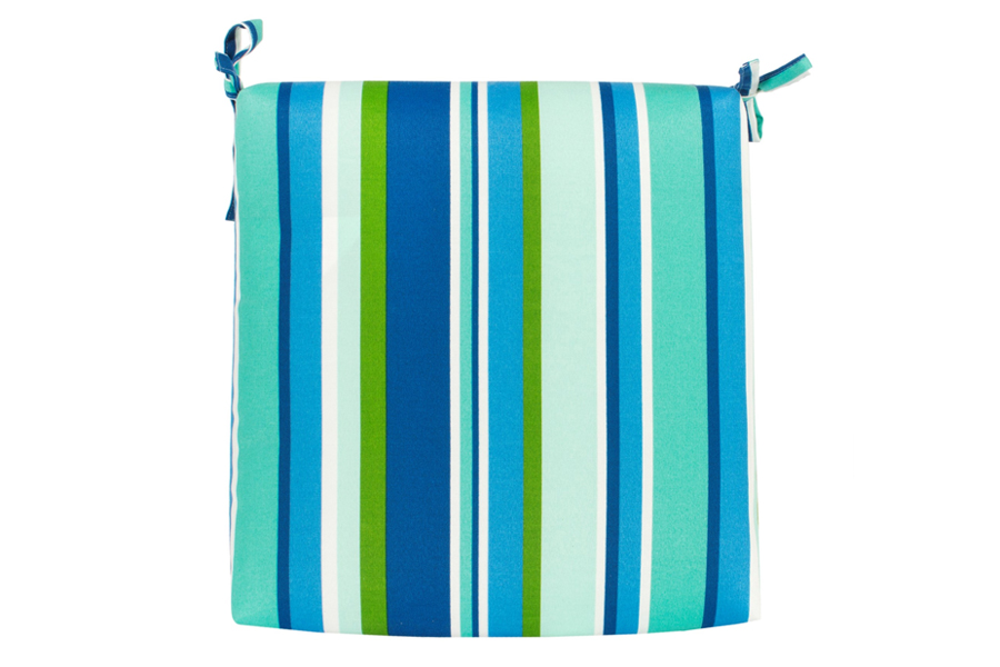 "18"" x 18"" Seat Pad Ocean Stripe"