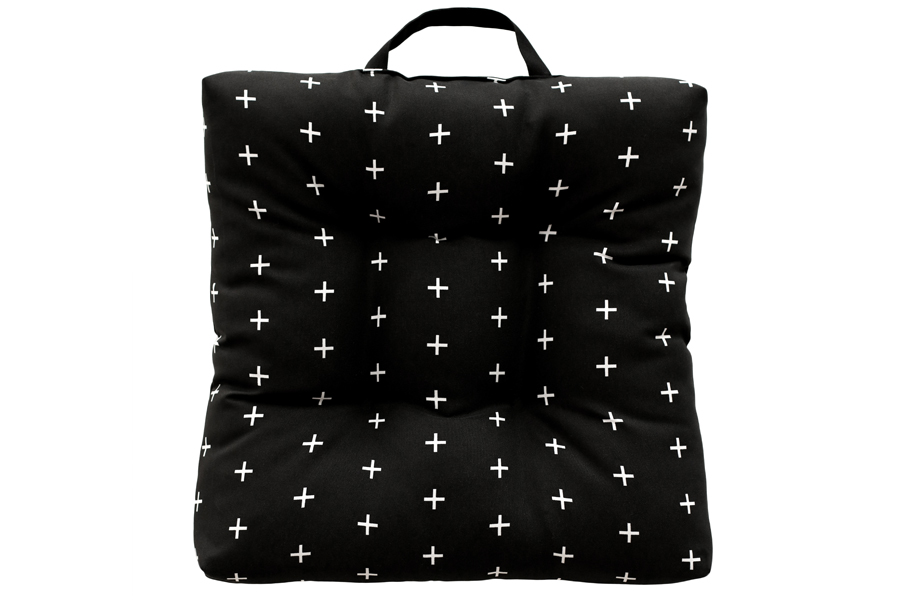 Black Twilight Adirondack Cushion With Handle