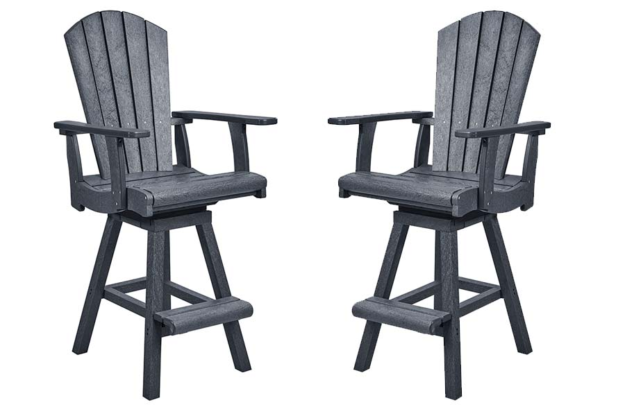 Adirondack Pub Chair & Pub Swivel Chair in Slate Grey