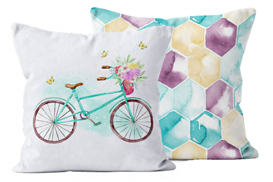 Ecotopia Bicycle Turquoise Purple