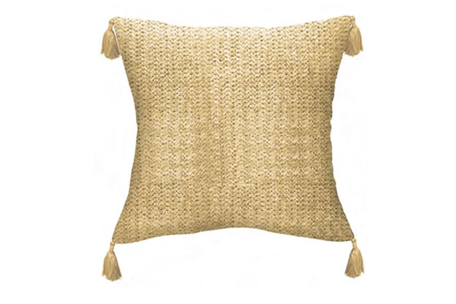 Raffia Toss Pillow With Tassels