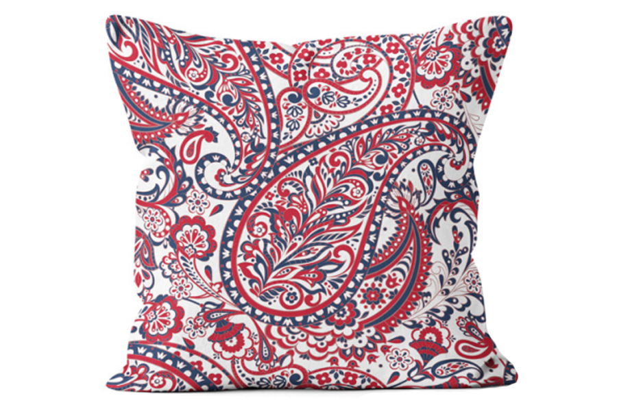 Square Paisley Poppy