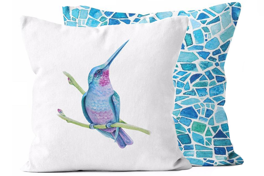 Vibrant Hummingbird/Peacock