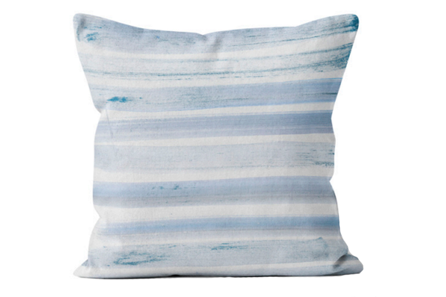 Watercolour Stripe Blue