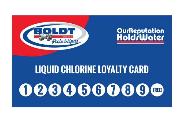 Boldt Chlorine Card