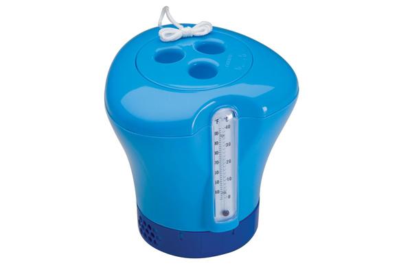 Blue Chlorinator Dispenser & Thermometer