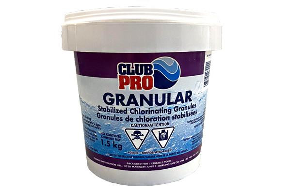 Club Pro Stabilized Granular Chlorine 1.5 KG