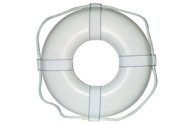 """Life Ring Buoy 24"""" White"""
