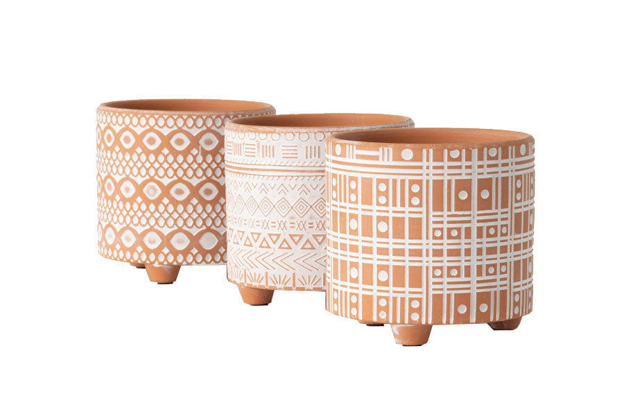 FAC-CM2934-3-PATTERNED-CLAY-POTS-ASSORTED-MAIN